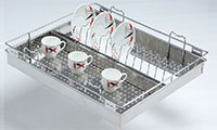 PERFORATED CUP and SAUCER BASKET