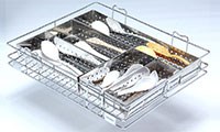 PERFORATED BOX CUTLERY BASKET